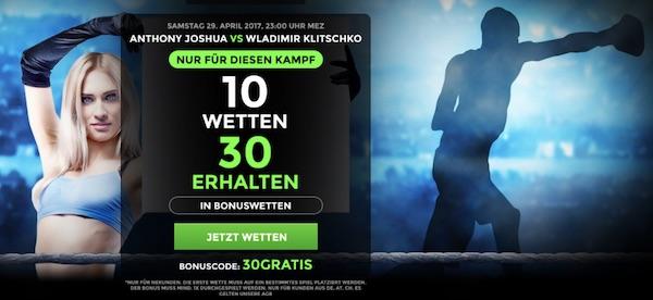 Promotion Joshua vs. Klitschko bei Netbet