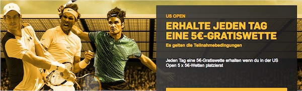 Betfair Freebet-Promotion US Open 2017