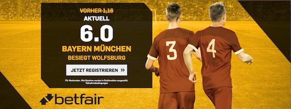 Betfair Boost Bayern gegen Wolfsburg