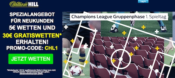 William Hill Promotion zur Champions League