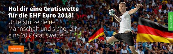 Betsson Handball Europameisterschaft Freiwette