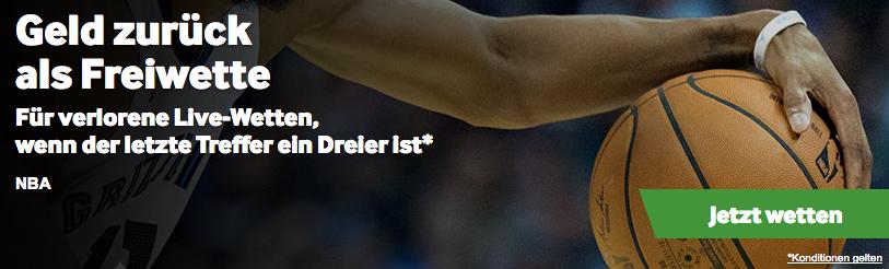 Betway NBA Basketball Spezial Wette Dreipunktwurf
