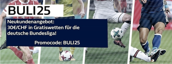 William Hill Neukundenpromo für die Bundesliga