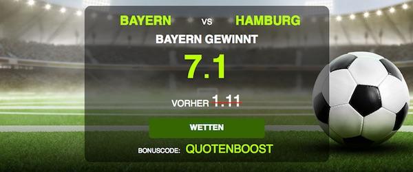 7.10 auf Bayern-Sieg bei NetBet