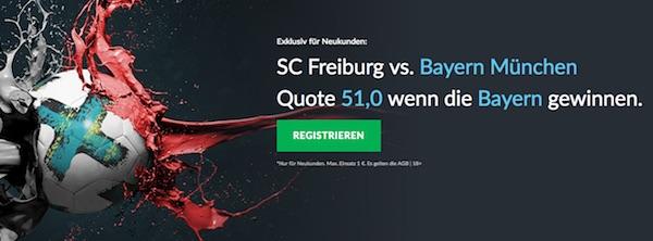 BetVictor Quotenboost zu Freiburg vs. Bayern