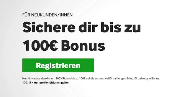 Betway Nekundenbonus 50+50 Euro