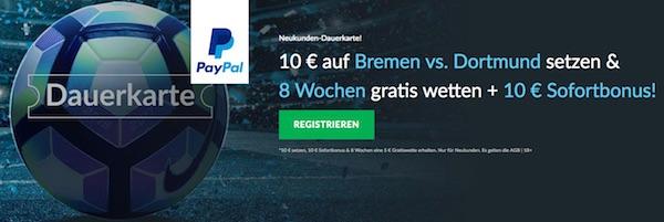 BetVictor Dauerkarte zu Werder vs. Dortmund