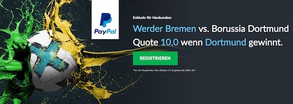 10.0 auf BVB-Sieg in Bremen bei BetVictor