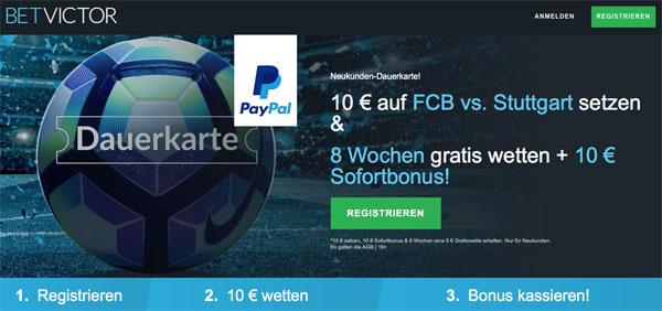 Dauerkarte BetVictor Bayern gegen Stuttgart