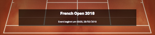 French Open Wetten bei Betway