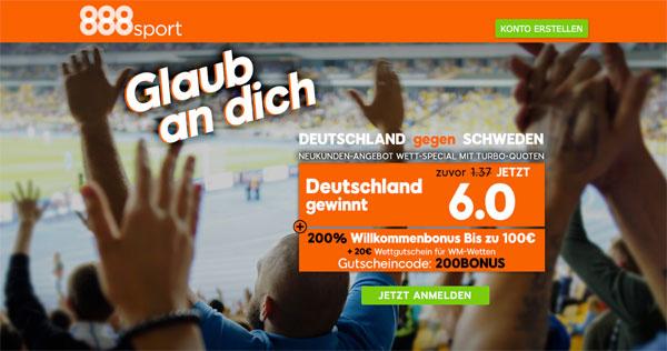 888sport deutschland schweden wm wette
