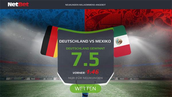 Netbet WM Wette Deutschland gegen Mexiko