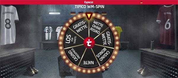 Tipico WM Spin Wette zur WM