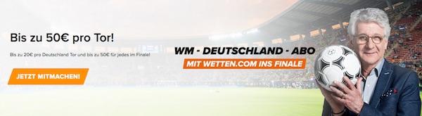 WM Deutschland Abo von Wetten.com