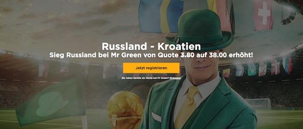 MrGreen Quotenboost zu Russland-Kroatien