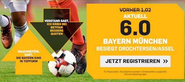 Betfair Boost zum DFB Pokal