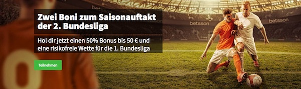 Betsson Aktionen zum Start der 2. Bundesliga 2018/19