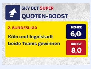 SkyBet Quote 8.0 wenn Köln und Ingolstadt siegen