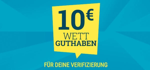 Sicher dir eine 10€ Freiwette bei sportwetten.de