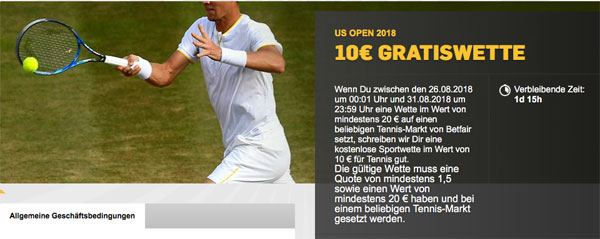 Tennis Wette Betfair US Open