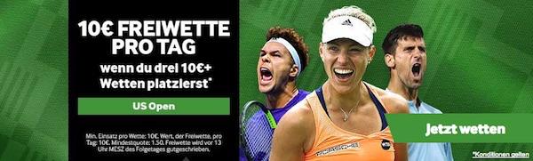 US Open: Jeden Tag Freiwetten abstauben