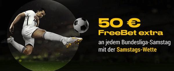 Bwin Kombiwetten Freebet jeden Bundesliga Samstag