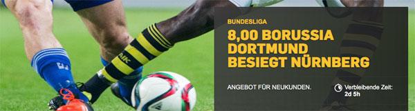 Betfair top Quotenboost Dortmund sieg