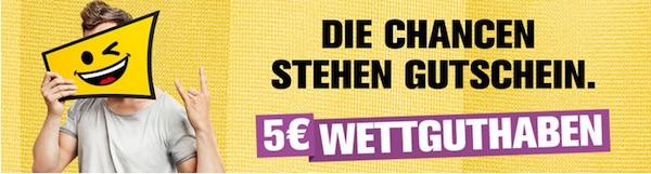 5€ Gratis Wettguthaben bei Interwetten