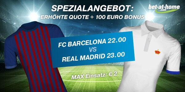 bet at home: 22.0 auf Barca, 23.0 auf Real