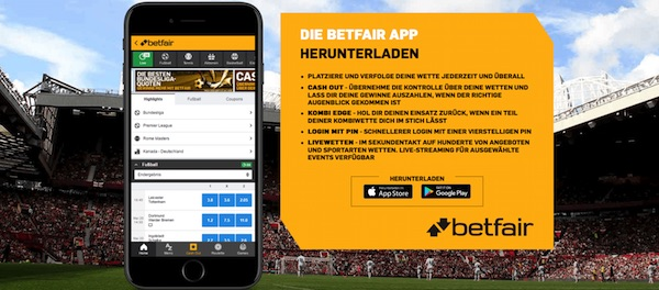 Die Sportwetten App von Betfair