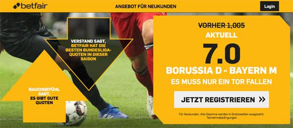 Betfair Dortmund Bayern Wette Quotenboost