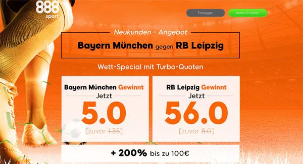 Bayern Leipzig Wette 888sport