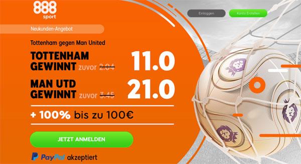 Tottenham ManUnited Wette