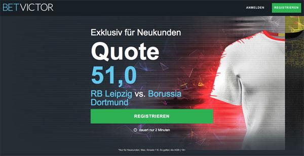 Betvictor Wette Leipzig gegen Dortmund