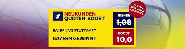 10er-Quote auf Bayern-Heimsieg vs. VfB bei SkyBet