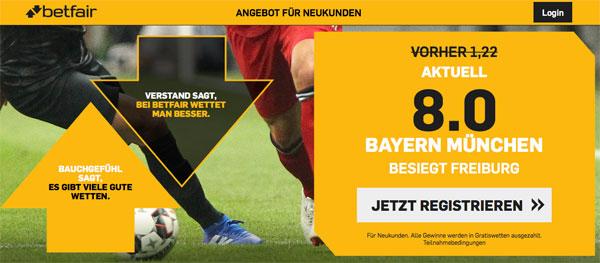 Betfair Wette Bayern Freiburg