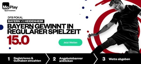 Mega Quoten zu Bayern-Heidenheim bei MoPlay