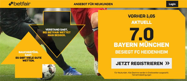Bayern Heidenheim Betfair Wette