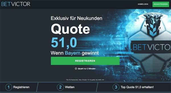 BetVictor Wette Bayern Dortmund Wette