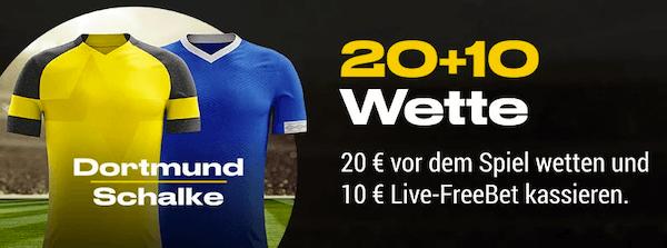 Bwin BVB Schalke Gratiswette 20+10