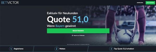 Traum Quote 51.0 auf BetVictor auf die Bayern