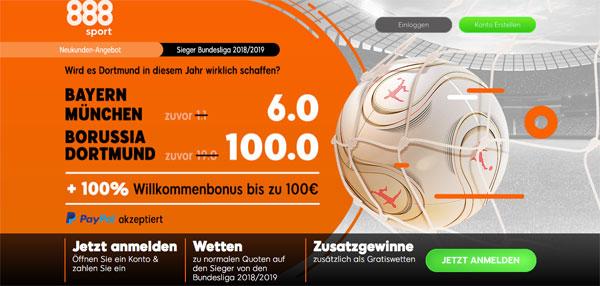 bayern dortmund wette 888sport