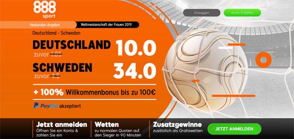 Deutschland Schweden Wette 888sport