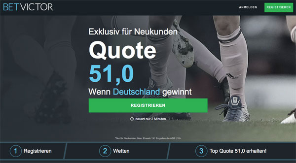 BetVictor Wette Deutschland