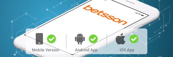 Betsson mit eigener Android und iOS App
