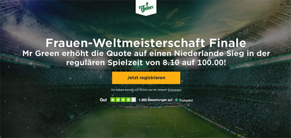 Mr Green Wette WM Finale