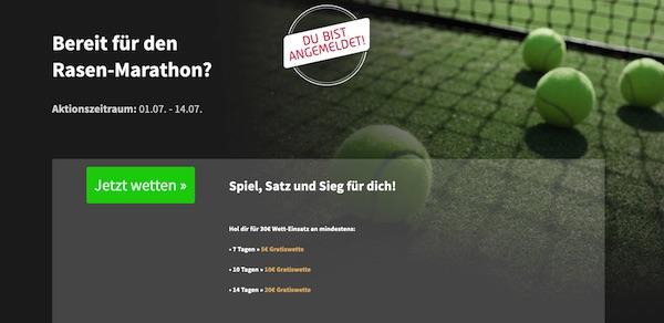 20€ Freiwette winkt beim Rasen Marathon von Tipico