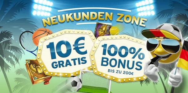 Sunnyplayer Bonus für Neukunden