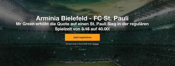 Mr. Green Bielefeld gegen StPauli