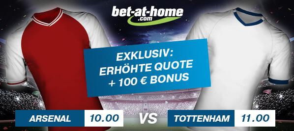 bet-at-home Quotenboost Arsenal Tottenham